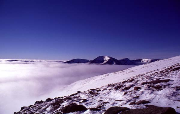 Cairn Toul etc above inversion layer