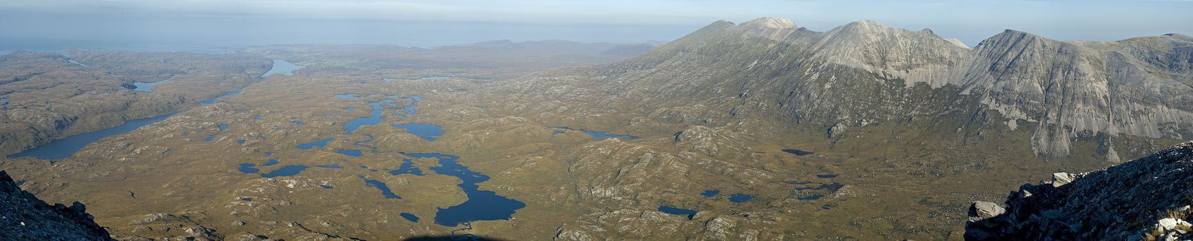 Foinaven and the moor north of Arkle